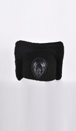 Square Hat with leather face