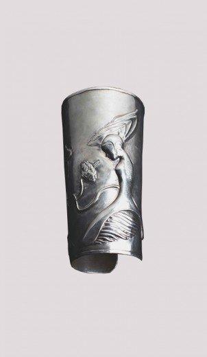 Silver Love Cuff